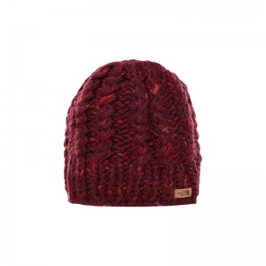 Caciula Femei The North Face Chunky Knit Visiniu