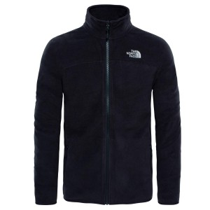 Polar Drumetie Barbati The North Face M 100 Glacier Full Zip Tnf Black (Negru)