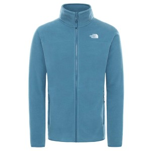 Polar Drumetie Barbati The North Face M 100 Glacier Full Zip Mallard Blue (Albastru)