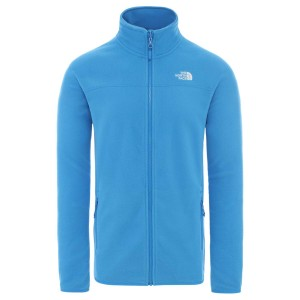 Polar Drumetie Barbati The North Face M 100 Glacier Full Zip Clear Lake Blue (Albastru)