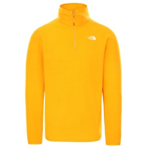 Polar Drumetie Barbati The North Face M 100 Glacier 1/4 Zip Summit Gol (Galben)