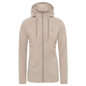Polar Femei The North Face Mezzaluna Full Zip Hoodie Roz