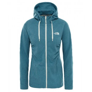 Polar Femei The North Face Mezzaluna Full Zip Hoodie Albastru