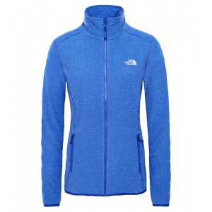 Polar Femei The North Face 100 Glacier Full Zip Albastru