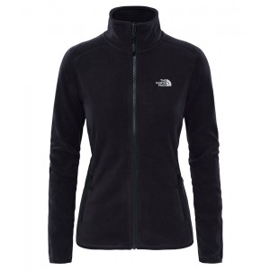 Polar Femei The North Face 100 Glacier Full Zip Negru