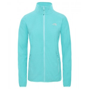 Polar Femei The North Face 100 Glacier Full Zip Bleu