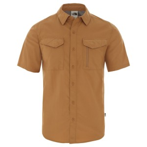 Camasa Drumetie Barbati The North Face M Short Sleeve Sequoia Shirt-EU Cedar Brown (Maro)