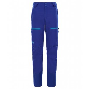 Pantaloni Schi The North Face Powder Guide GTX W Albastru