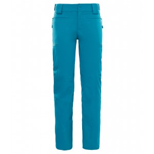 Pantaloni Schi The North Face Powdance W Albastru