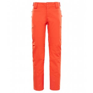 Pantaloni Schi The North Face Powdance W Rosu