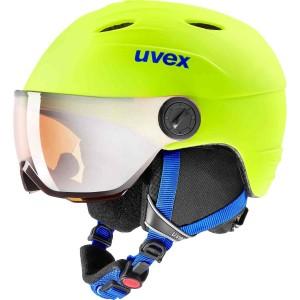 Casca Ski si Snowboard Copii Uvex Junior Visor Pro Neon Yellow Mat (Galben)