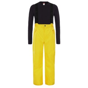 Pantaloni Ski Copii The North Face Youth Snowquest Suspender Plus Pant Lightning Yellow (Galben)