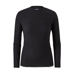 Bluza First Layer Femei Hiking Patagonia Capilene Air Crew Negru