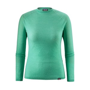Bluza First Layer Femei Hiking Patagonia Capilene Air Crew Verde Deschis