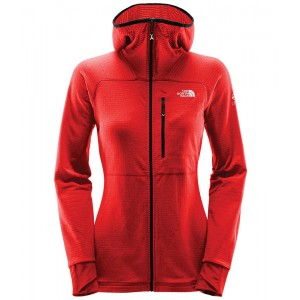 Polar Femei The North Face Summit L2 Proprius Hoodie Rosu