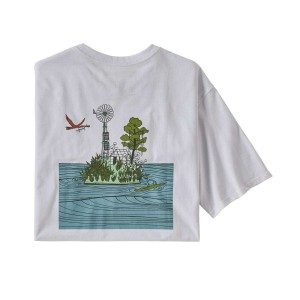 Tricou Drumetie Barbati Patagonia Save Our Seeds Responsibili-Tee White (Alb)