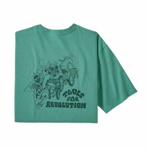 Tricou Drumetie Barbati Patagonia Tools For Revolution Responsibili-Tee Light Beryl Green (Verde)