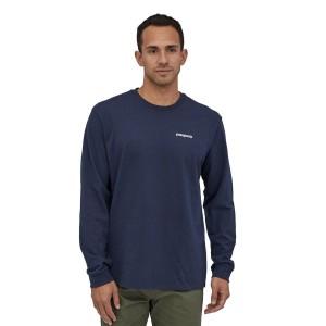 Bluza Drumetie Barbati Patagonia L/S P-6 Logo Responsibili-Tee Classic Navy (Bleumarin)