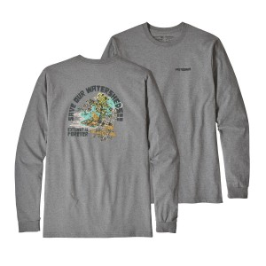 Bluza Barbati Patagonia L/S Save Our Watersheds Responsibili Gri