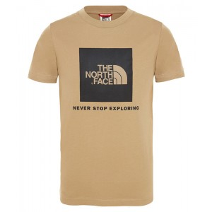 Tricou Juniori The North Face Box Bej