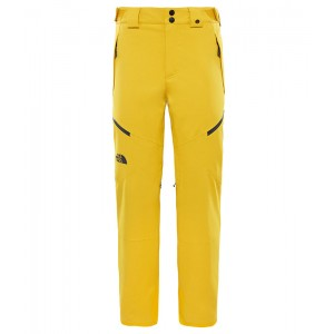 Pantaloni Barbati Ski si Snowboard The North Face Chakal Galben