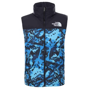 Vesta Puf Activitati Urbane Barbati The North Face M 1996 Retro Nuptse Vest Clear Lake Blue Himalayan Camo Print (Albastru)