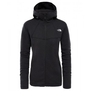 Hanorac Femei The North Face Inlux Wool Fz Hoody Negru