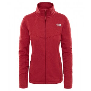 Bluza Mid-Layer Femei Hiking The North Face Inlux Wool Fz Rosu