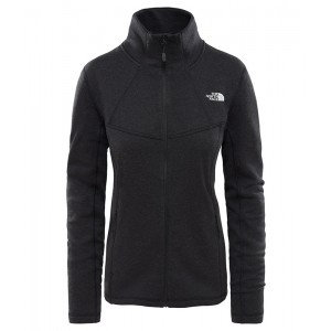 Bluza Mid-Layer Femei Hiking The North Face Inlux Wool Fz Negru