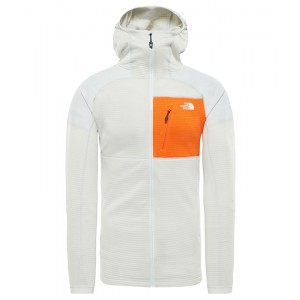 Hanorac Barbati The North Face Impendor Grid Hoodie Portocaliu / Gri Inchis