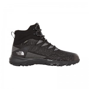 Ghete Barbati Hiking The North Face Ultra Fastpack III Mid Woven GTX Negru / Alb