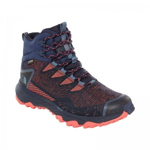 Ghete Femei Hiking The North Face Ultra Fastpack III Mid Woven GTX Gri