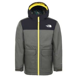 Geaca Ski Copii The North Face Boy'S Freedom Insulated Jkt New Taupe Green/Lightning Yellow (Kaki)