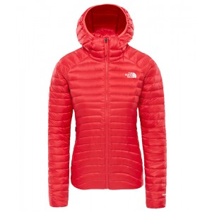Geaca Femei Hiking The North Face Impendor Down Hoodie Roz