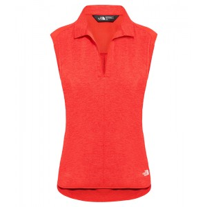 Tricou Femei Hiking The North Face Inlux Sleeveless Rosu