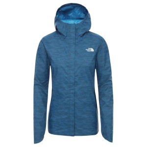 Geaca Drumetie Femei The North Face W Quest Print Jacket Blue Wing Teal Dewdrop 2 Print (Bleumarin)