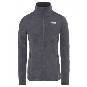 Polar Femei The North Face Impendor Full Zip Light Gri