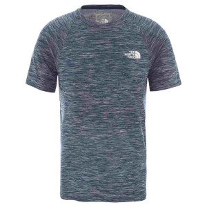 Tricou Drumetie Barbati The North Face M Impendor Seamless Tee Blue Wing Teal White Heather (Bleumarin)