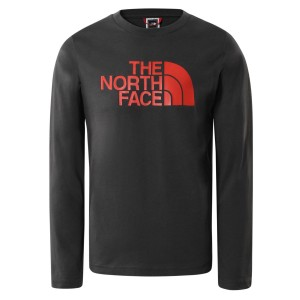 Bluza Casual Copii The North Face YOUTH L/S EASY TEE Gri