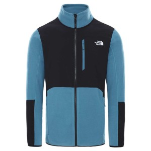 Polar Drumetie Barbati The North Face M Glacier Pro Full Zip Mallard Blue/Tnf White (Albastru)