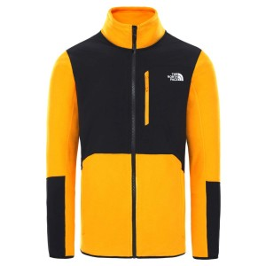 Polar Drumetie Barbati The North Face M Glacier Pro Full Zip Summit Gold/Tnf Black (Galben)