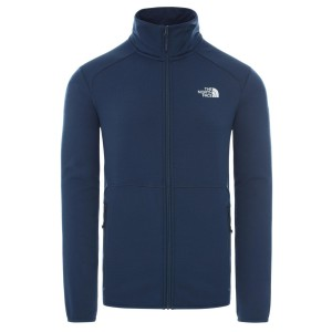 Polar Drumetie Barbati The North Face M Quest Full Zip Jacket Blue Wing Teal (Bleumarin)