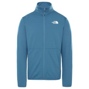 Polar Drumetie Barbati The North Face M Quest Full Zip Jkt Mallard Blue (Albastru)