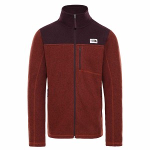Polar Drumetie Barbati The North Face M Gordon Lyons Full Zip Brandy Brown Dark Heather/Root Brown Dark Heather (Maro)