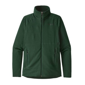 Bluza Mid-Layer Barbati Hiking Patagonia R1 Full-Zip Verde Inchis