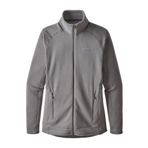 Bluza Mid-Layer Femei Hiking Patagonia R1 Full Zip Gri