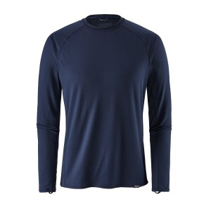 Bluza First Layer Barbati Hiking Patagonia Capilene Midweight Crew Bleumarin