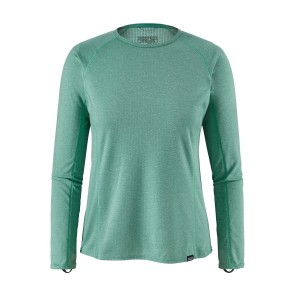 Bluza First Layer Femei Hiking Patagonia Capilene Midweight Crew Verde