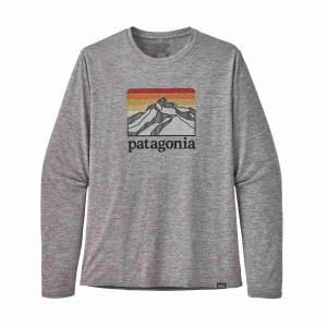 Bluza Drumetie Barbati Patagonia L/S Capilene Cool Daily Graphic Shirt Feather Grey (Gri)