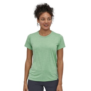 Tricou Femei Patagonia Capilene Cool Daily Shirt Gypsum Green - Light Gypsum Green X-Dye (Verde)